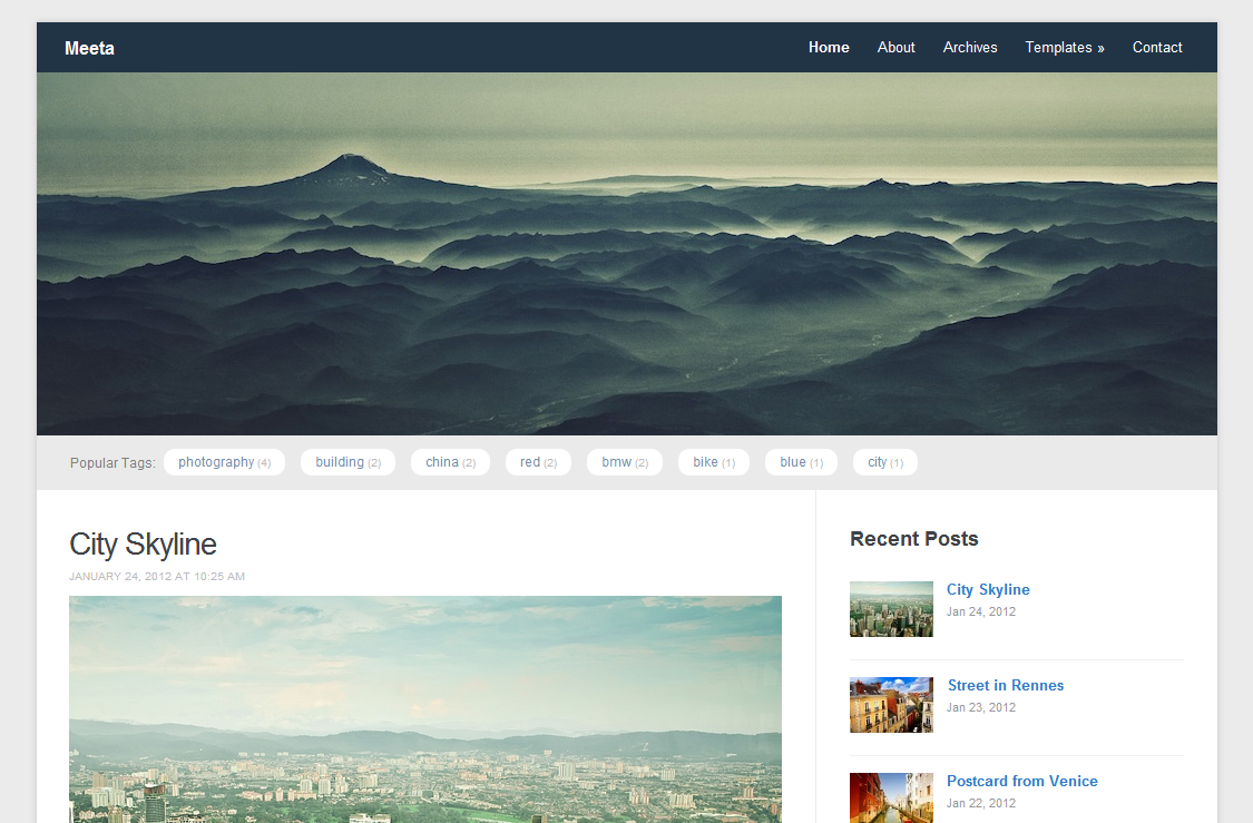 Meeta Free Premium Responsive WordPress Theme 2012