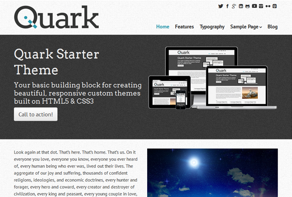 Quark Free Responsive WordPress Theme