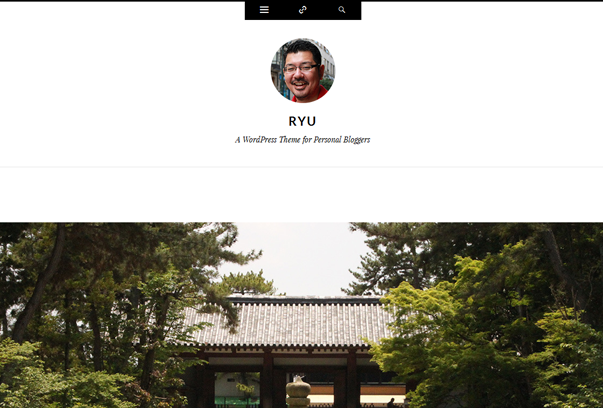 Ryu, Personal, Bloggers Free WordPress Theme by Automattic