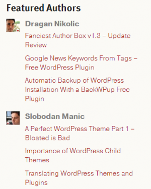 List Authors Widget by ThematoSoup
