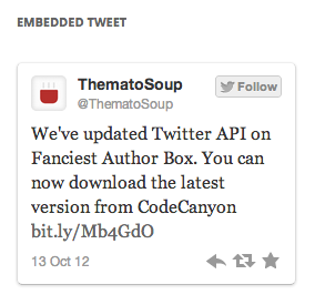 oEmbed Tweet WIdget Pack by ThematoSoup