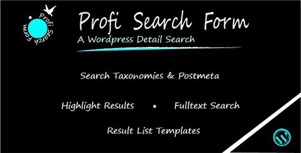 Profi Search Plugin for WordPress