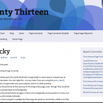Blue Twenty Thirteen WordPress Child Theme