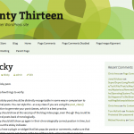 Green Twenty Thirteen WordPress Child Theme