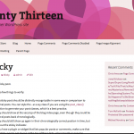 Pink Twenty Thirteen WordPress Child Theme