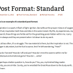 Standard post format in Twenty Thirteen