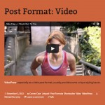 Video post format in Twenty Thirteen