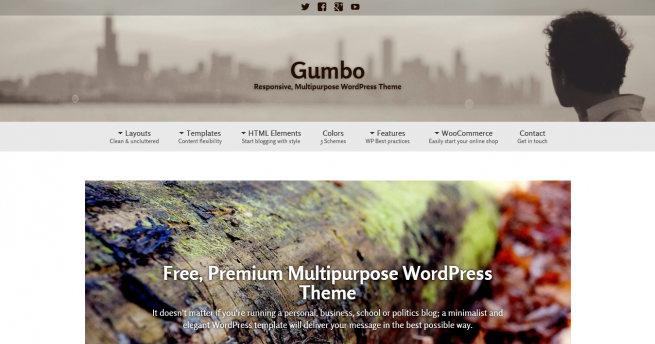 Gumbo, Free Multipurpose WordPress theme by ThematoSoup