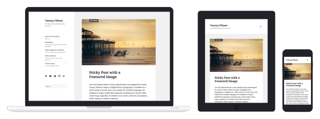 Twenty Fifteen, new default WordPress theme