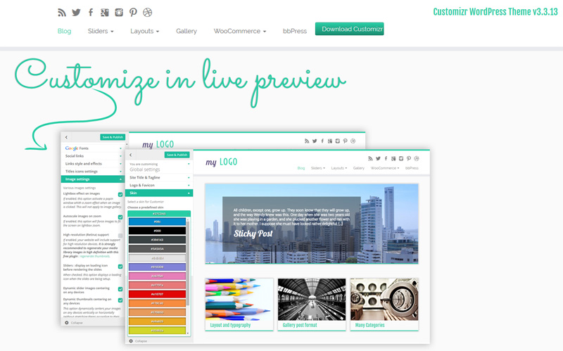 Customizr, WordPress theme built with best practices