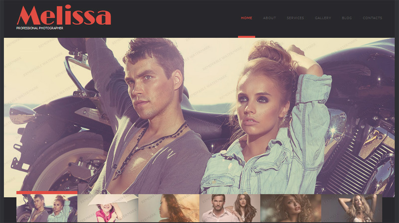 Melissa, free WordPress template