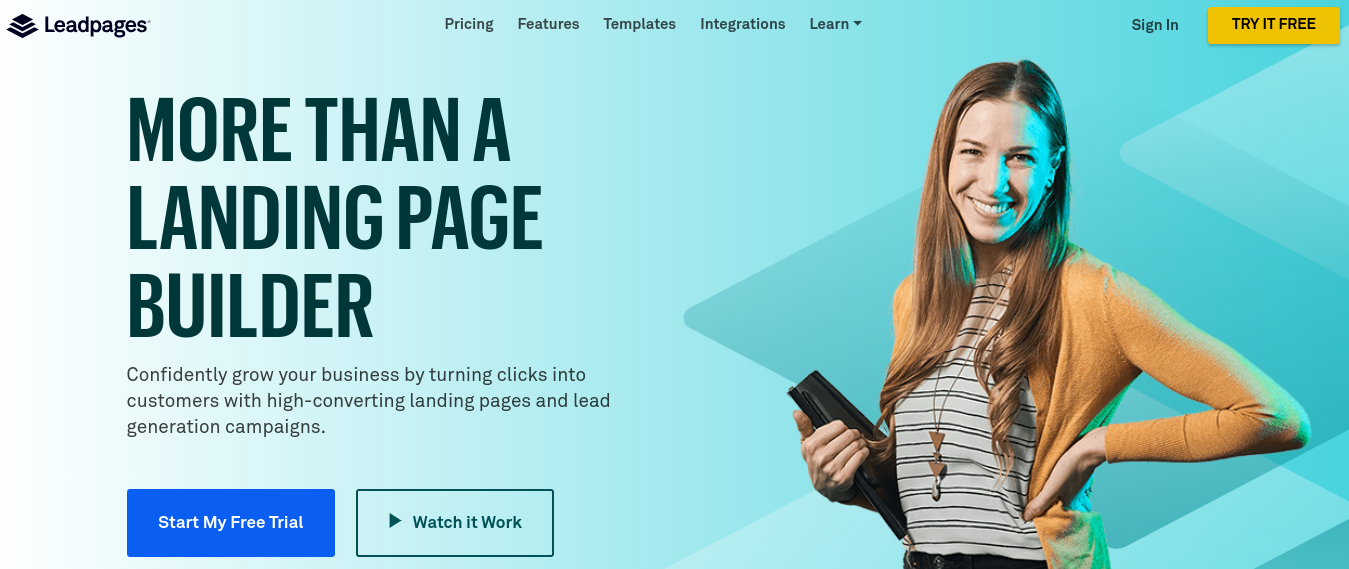 Leadpages - The best lead generation software