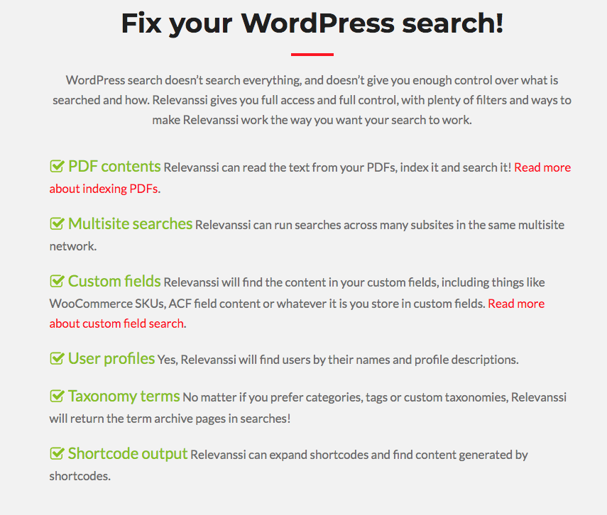 Relevanssi best WordPress search plugin