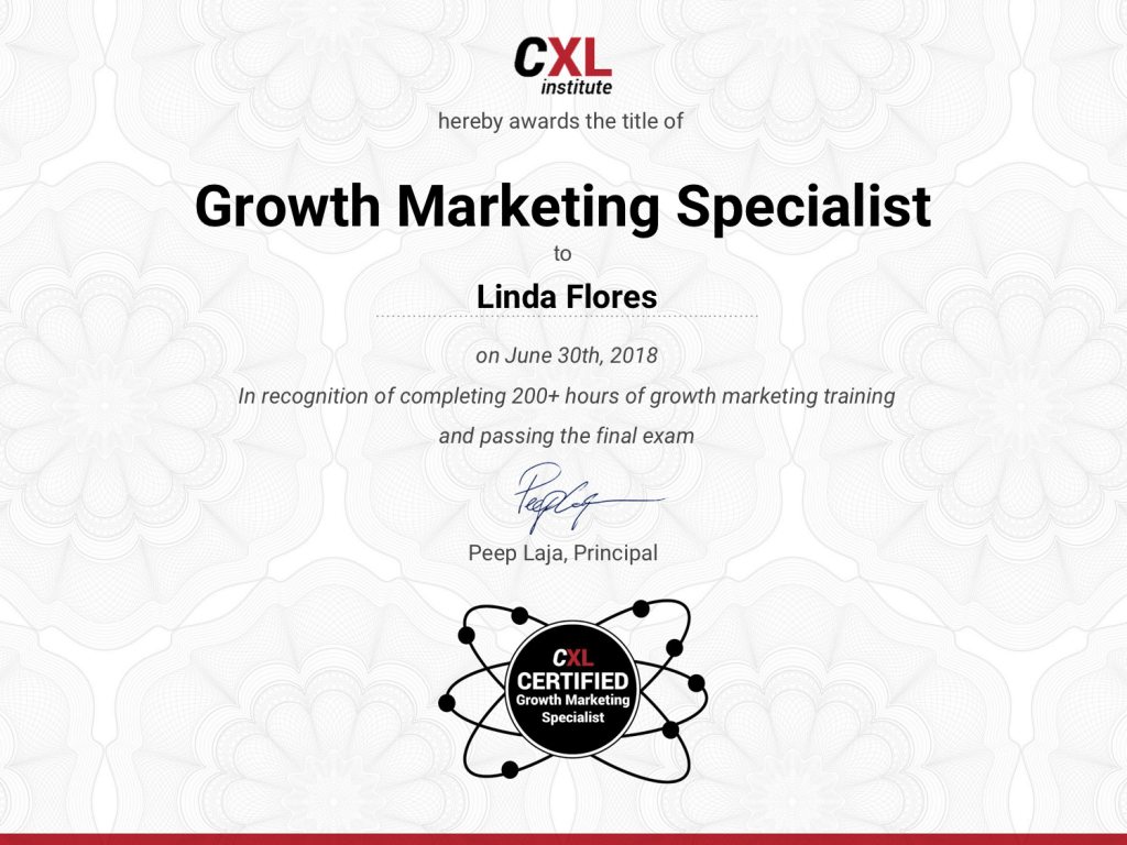 Growth Marketing Specialist Certificate