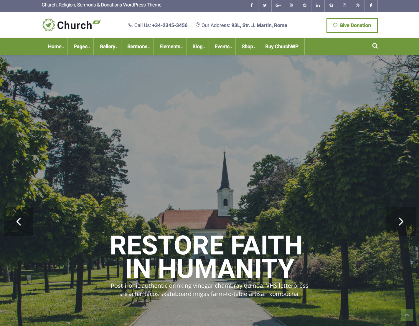 ChurchWP Best WordPress Church Themes