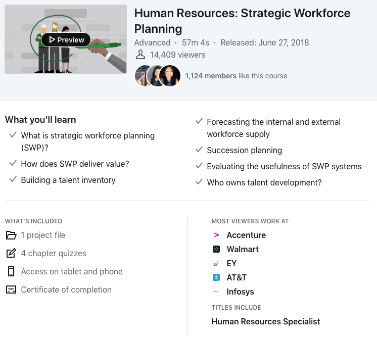LinkedIn Learning - Human Resources Course