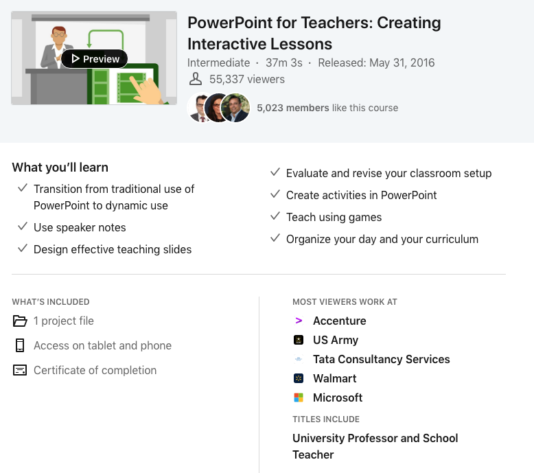 Power Point for Teachers - LinkedIn Learning