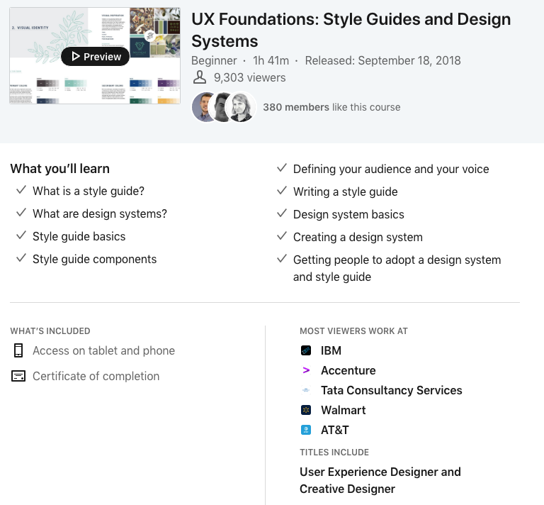 UX Foundations - LinkedIn Learning