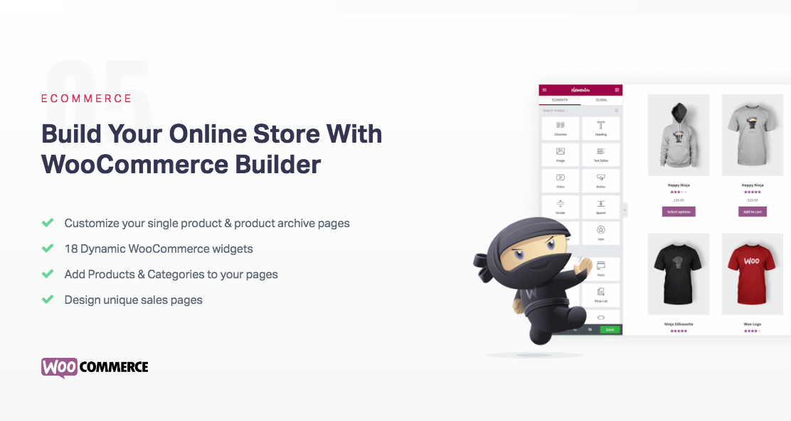 Elementor WordPress Landing Page Builder is Compatible with WooCommerce