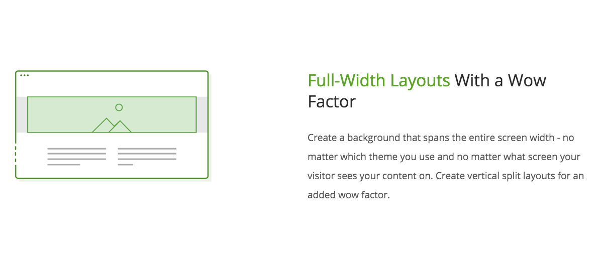 Full Width Landing Page Layouts, Thrive Architect WordPress Plugin