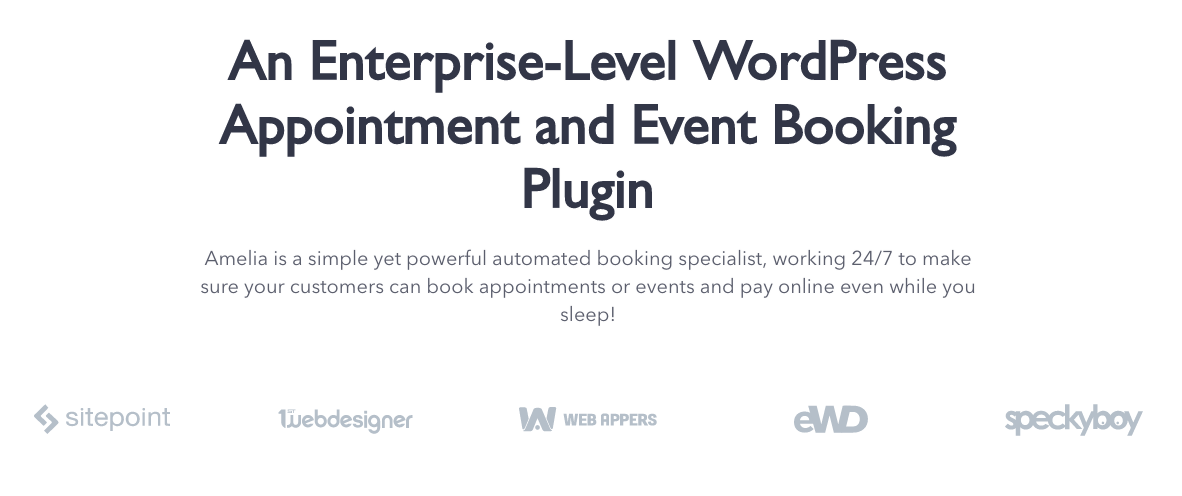 Amelia, Enterprise WordPress Appointment Scheduling Plugin