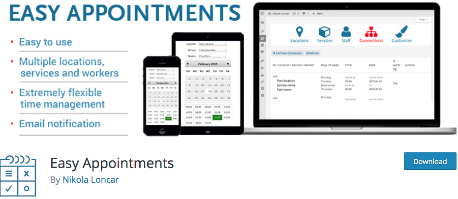 Easy Appointments Free WordPress Scheduling Plugin