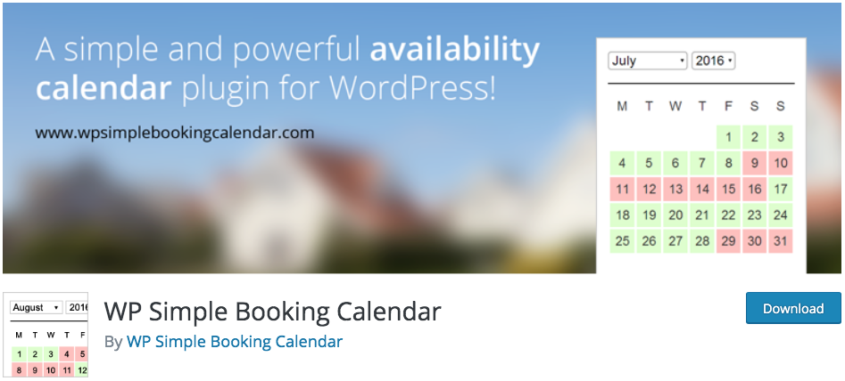 WP Simple Booking Calendar WordPress Appointment Scheduling Plugin