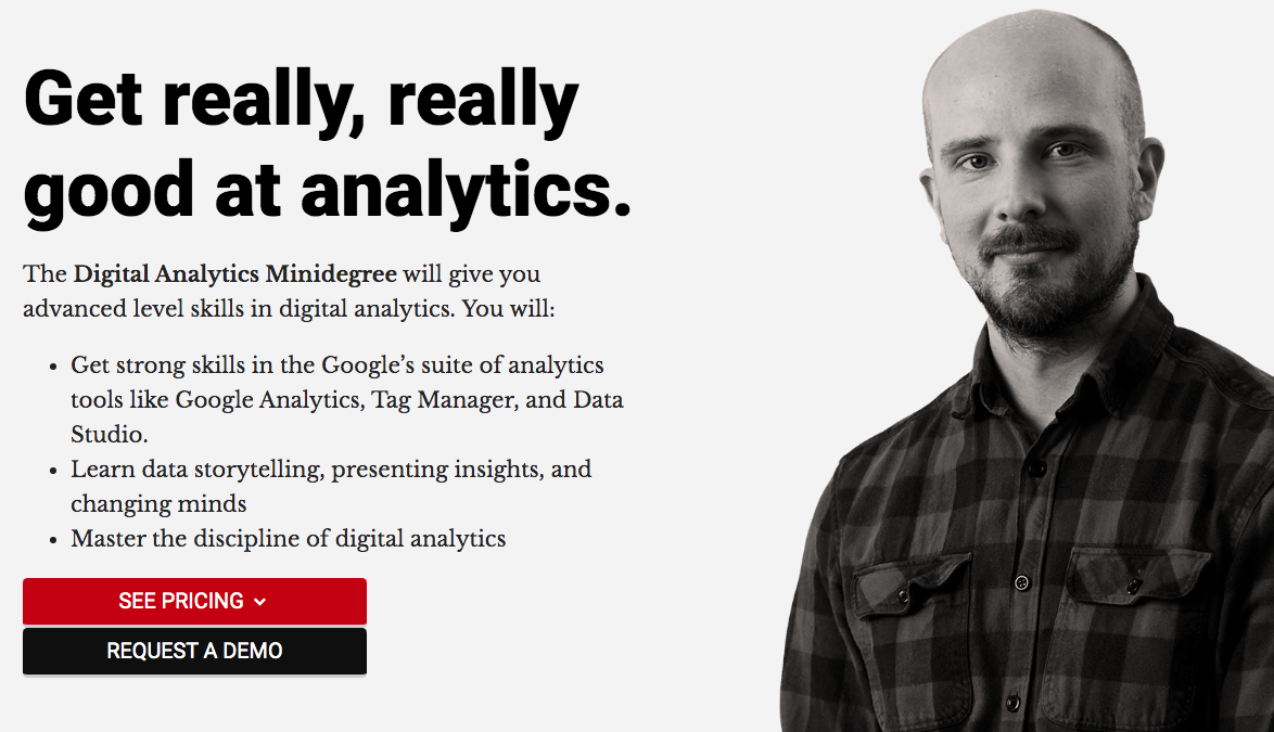 Digital Analytics Minidegree by CXL Institute