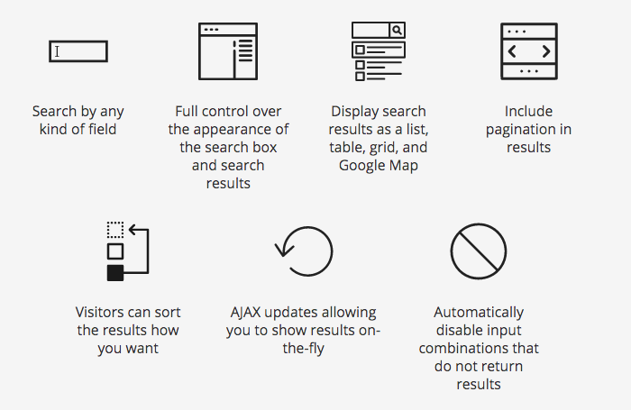 Toolset Ajax Search Features